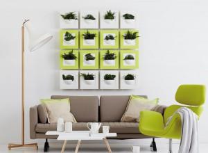 Mur végétal vert et blanc - Elho