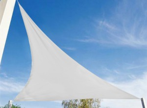 Voile d'ombrage triangulaire blanc - 2 x 2 x 2 m - Hespéride - 9,99 €