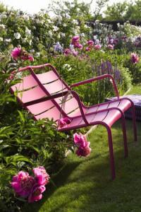 Fauteuil de jardin / transat dans le jardin