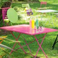 Mobilier de terrasse rose