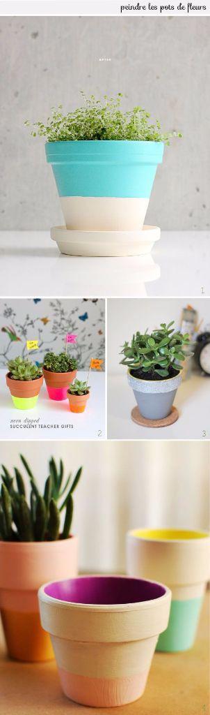DIY Customisation de pots de fleurs