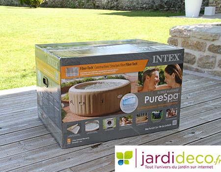 Test du spa gonflable intex bulles rond pure spa for Comment entretenir un spa gonflable