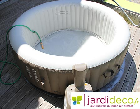Test du spa gonflable intex bulles rond pure spa - Avis jacuzzi gonflable ...
