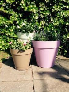 Décorer sa terrasse : pots de fleurs