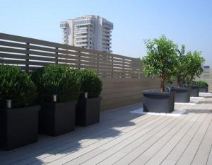 Terrasse en composite bois