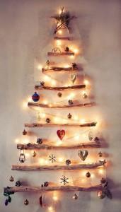Sapin de Noël DIY avec des branches