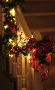 décoration de Noël escaliers