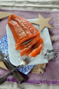 Menu de Noël : l'entrée au saumon