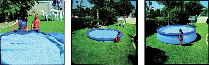 Montage piscine autoportée Intex