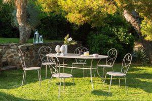 Table de jardin Hespéride style fer forgé