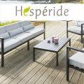 Hespéride, mobilier de jardin, table de jardin, parasol déporté, tendance et pas cher