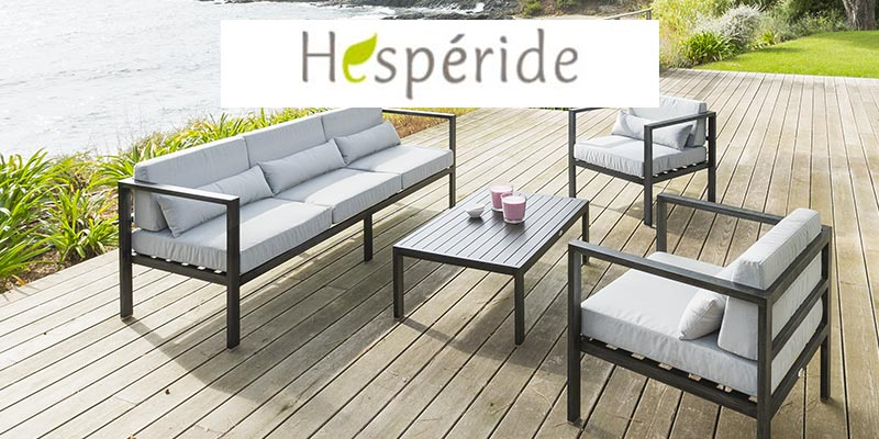 achat salon de jardin hesp ride du mobilier de jardin. Black Bedroom Furniture Sets. Home Design Ideas