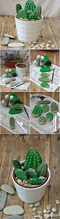 Faux cactus récup'