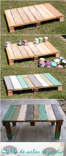 Table basse de jardin en palette