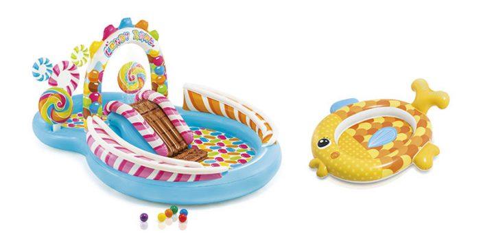Aires de jeux pour enfants à la piscine Intex