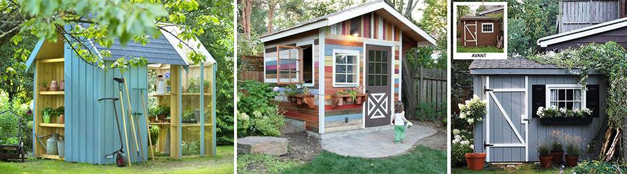 quelques id es pour d corer mon abri de jardin en bois. Black Bedroom Furniture Sets. Home Design Ideas