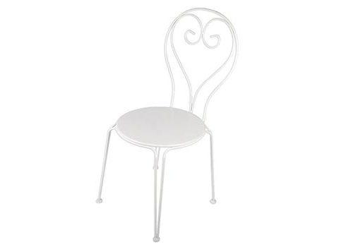 Chaise blanche en fer forgé
