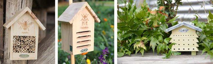 Abris pour insectes auxilaliaires, coccinelles, abeilles, etc.