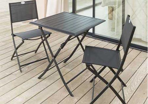 table de jardin pliante pour petit balcon et terrase