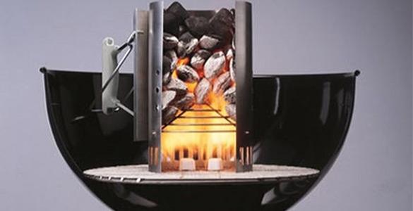 Accessoire de barbecue : la cheminée d'allumage