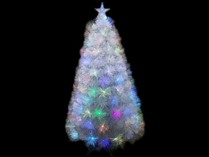 sapin artificiel de Noël en fibre optique
