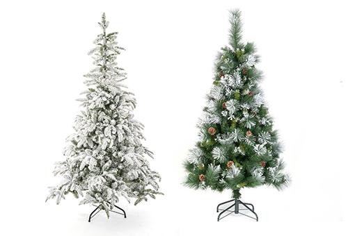 les sapins artificiels de Noël floqués blanc