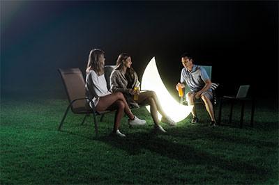 Lampe extérieure lumineuse LED INTEX Lune 68693