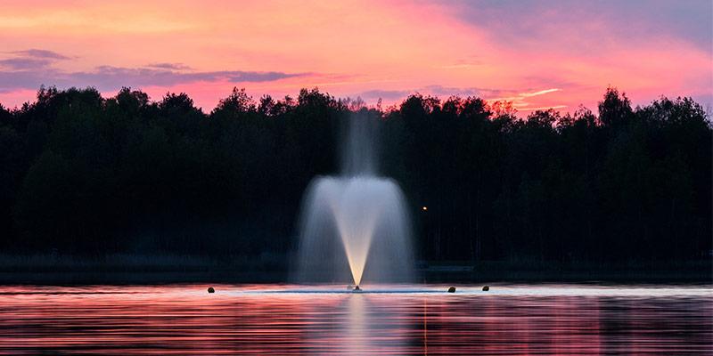 Pompe de bassin avec jet d'eau