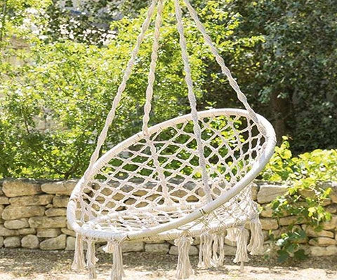 Déco jardin chaise suspendue extérieure