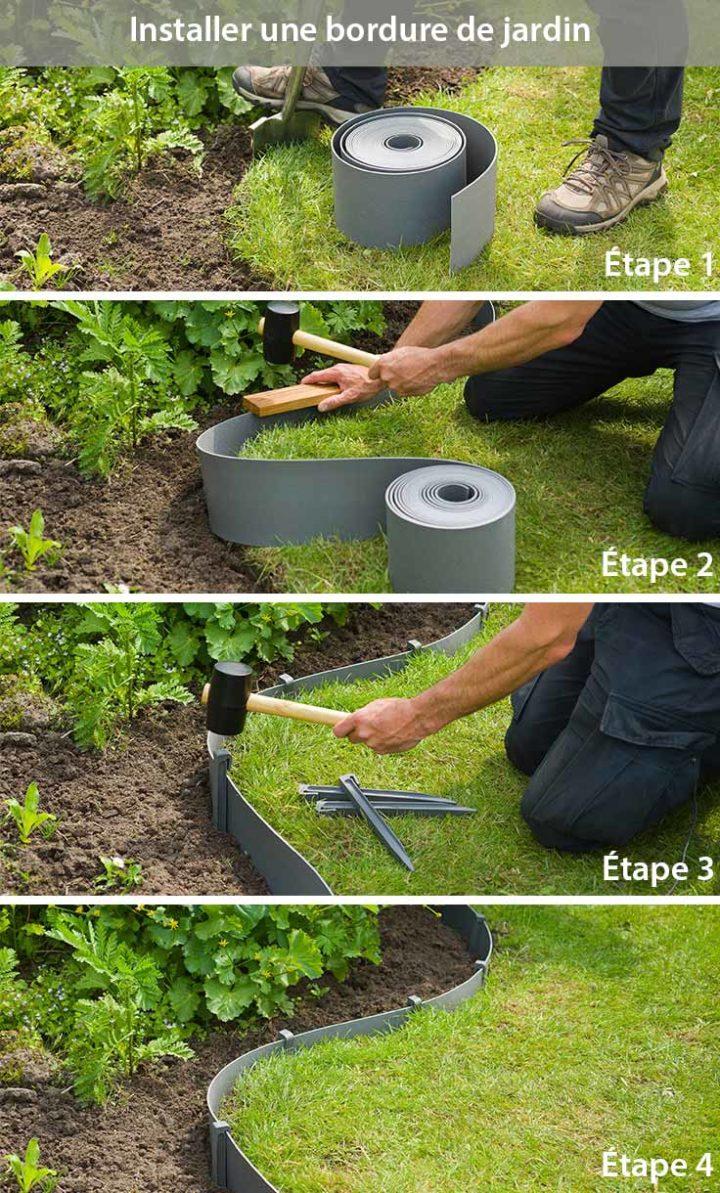 Installer une bordure de jardin en plastique