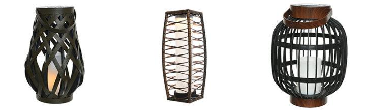 Lampes extérieures décoratives à énergie solaire