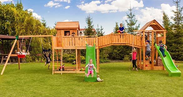 Aire de jeux en bois Fungoo pour enfants