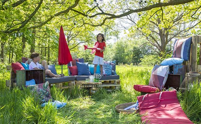 Tendance jardin avec les coussins palettes Madison