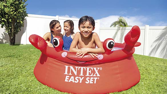 Piscine gonflable Easy Set Intex Crabe rouge référence 26100