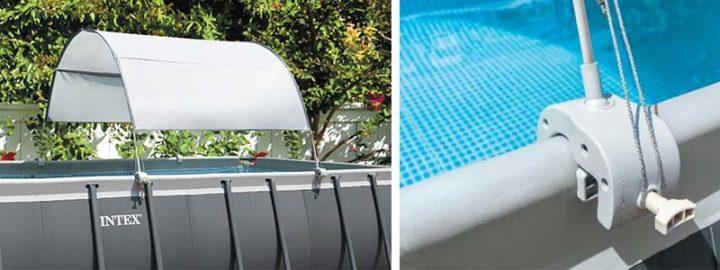Voile d'ombrage Intex pour piscine tubulaire