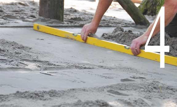 Mise à niveau de la couche de sable
