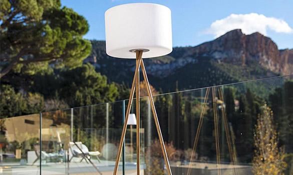 Lampe extérieure Lumisky Tamboury Wood