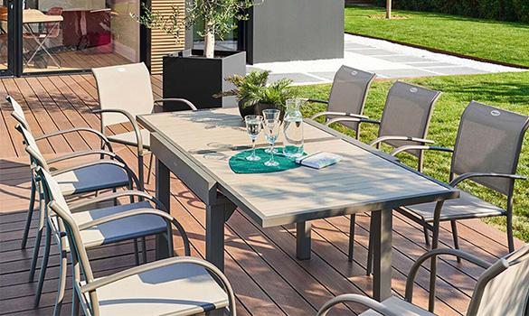 Table de jardin extensible Hespéride Piazza
